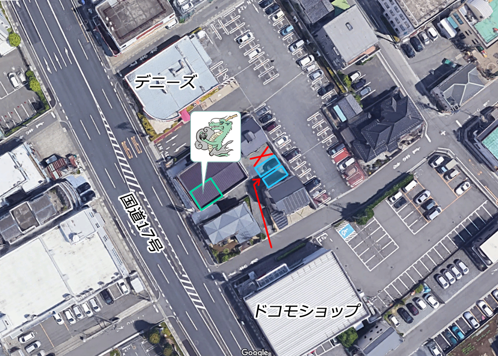 宮原駅のメンズビューティサロン 龍のスミカ 駐車場2